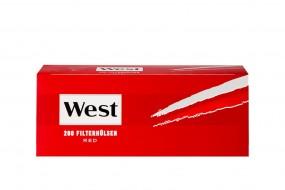 West Zigarettenhülsen Rot 200 Stück