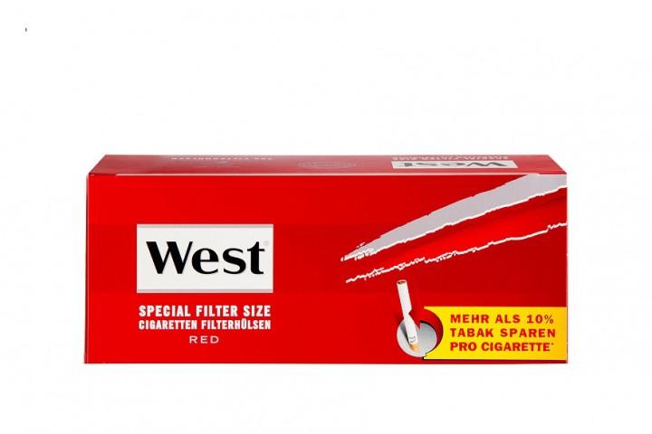 West Spezial Rot Zigarettenhülsen 250 Stück