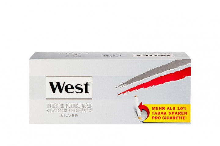 West Spezial Silber Zigarettenhülsen 250 Stück