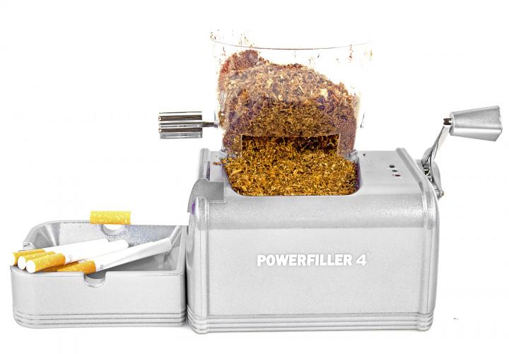 Powerfiller 4s XXL Elektrische Zigarettenstopfmaschine Silber